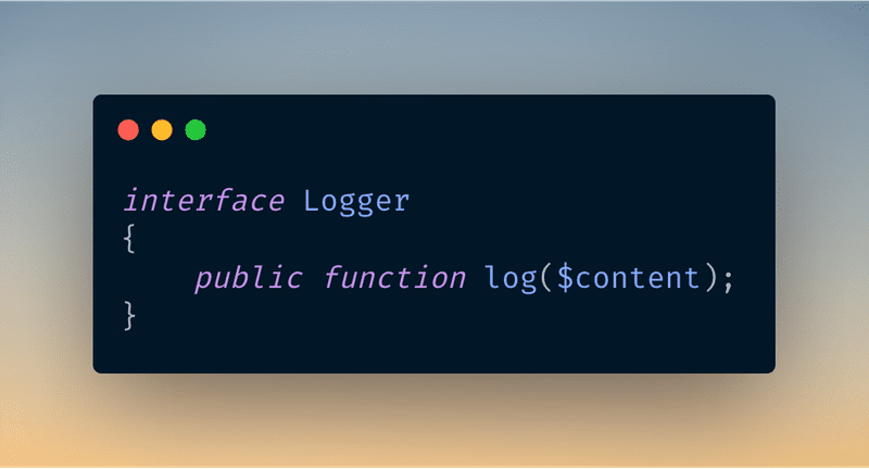 Code to Interface: An Example in Laravel